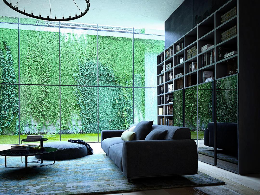 Green, green and once more green  #render_files #apartment #photooftheday #instaartist  #instarender #render #renderbox #renderart #renderizer #render_contest #cgworld #cgartistlab #3dmax #vrayrender  #cgi #instamood #instahome #decoration #homedecor #homedecoration #3dvisualization #rendercollective #livingroom #homedecoration #london #city
